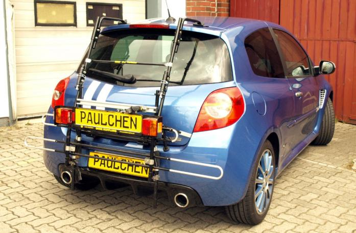 Renault Clio 3 RS (R) Bike carrier with comfort load extension in standby position. Without trailer hitch!