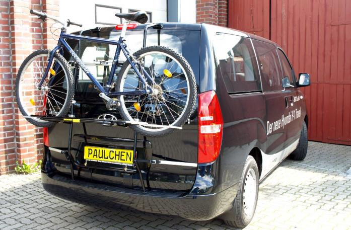 Hyundai H1 Travel (H1) Bike carrier loaded with bike