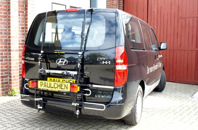 Hyundai H1 Travel (H1) Bike carrier with comfort load extension in standby position. Without trailer hitch!