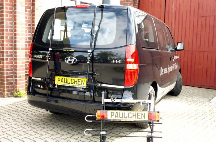 Hyundai H1 Travel (H1) Bike carrier with separated comfort load extension.