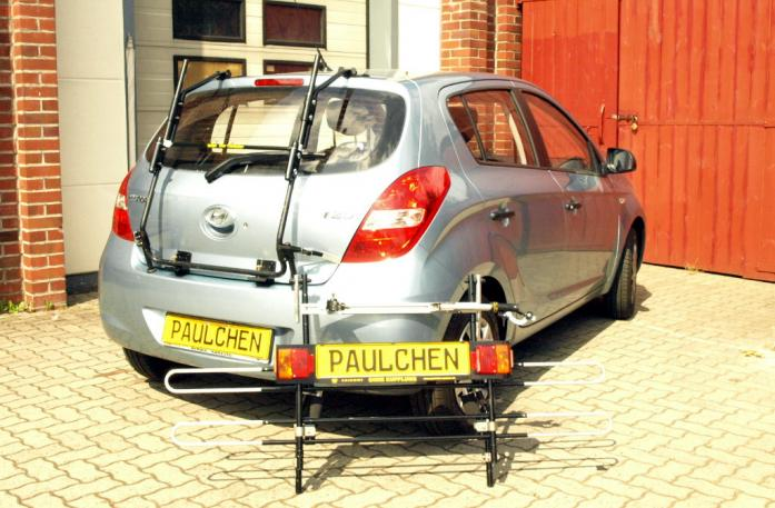 Hyundai i20 (PB) Bike carrier with separated comfort load extension.
