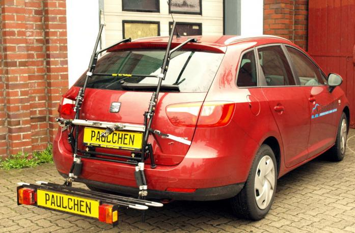 Seat Ibiza ST Kombi (6J5) Bike carrier with comfort load extension in loading position. Without trailer hitch!
