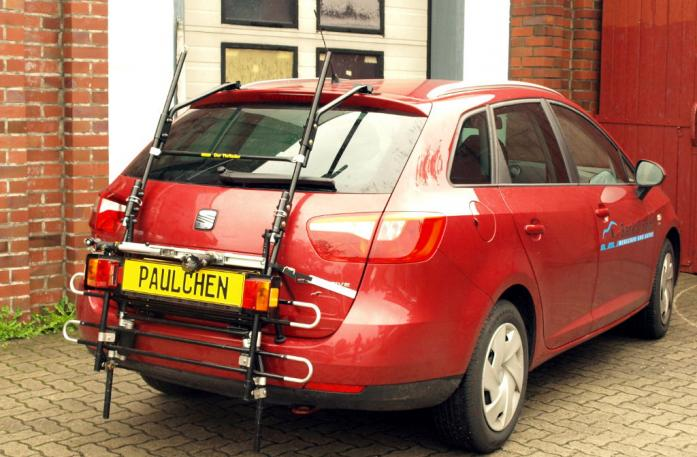 Seat Ibiza ST Kombi (6J5) Bike carrier with comfort load extension in standby position. Without trailer hitch!