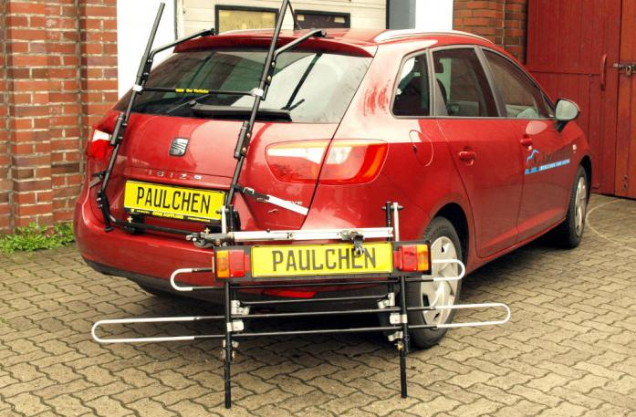 Seat Ibiza ST Kombi (6J5) Bike carrier with separated comfort load extension.