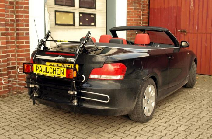 BMW 1er Cabrio Bike carrier with comfort load extension in standby position. Without trailer hitch!