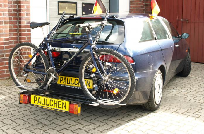 Alfa Romeo 156 Sportwagon Bike carrier with comfort load extension and loaded bike. Without trailer hitch!