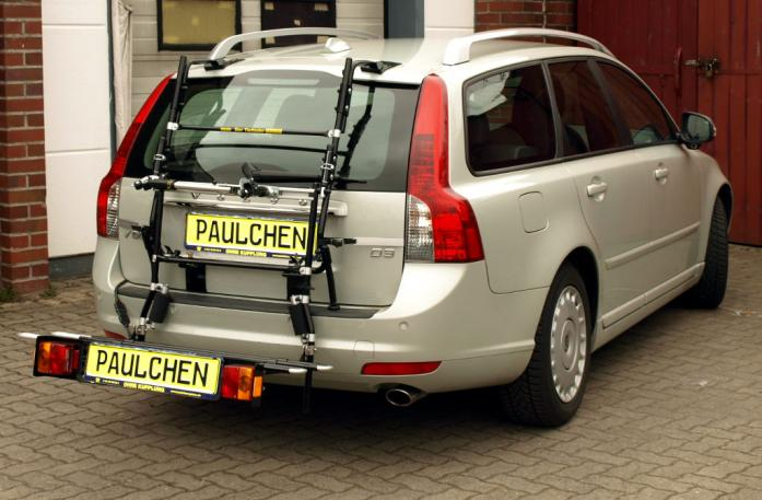 Volvo V 50 Bike carrier with comfort load extension in loading position. Without trailer hitch!