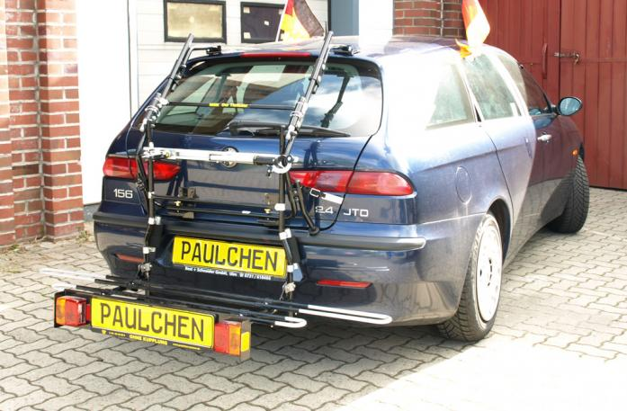 Alfa Romeo 156 Sportwagon Bike carrier with comfort load extension in loading position. Without trailer hitch!