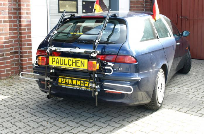 Alfa Romeo 156 Sportwagon Bike carrier with comfort load extension in standby position. Without trailer hitch!