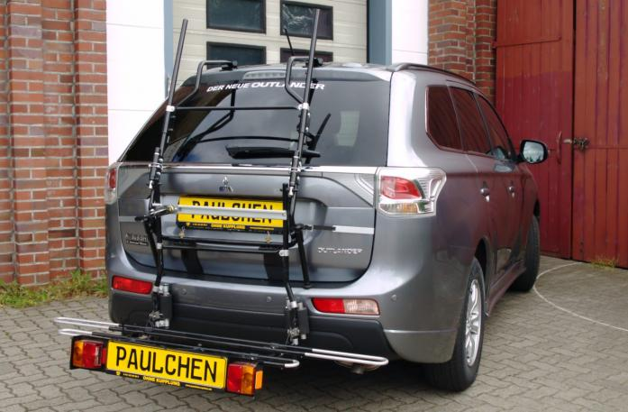 Mitsubishi Outlander III (CW0) Bike carrier with comfort load extension in loading position. Without trailer hitch!