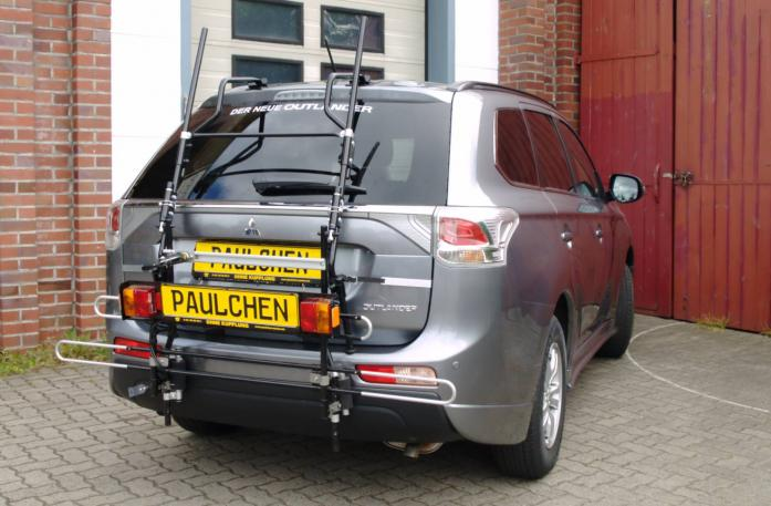 Mitsubishi Outlander III (CW0) Bike carrier with comfort load extension in standby position. Without trailer hitch!