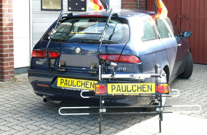 Alfa Romeo 156 Sportwagon Bike carrier with separated comfort load extension.
