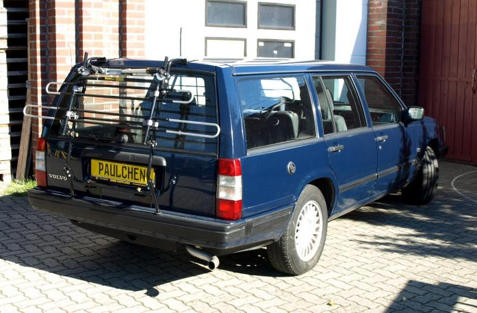 Volvo 740 / 960 / V90 Combi Bike carrier in standby position