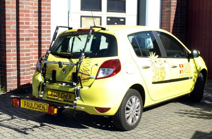 Renault Clio 3 (R) Bike carrier with comfort load extension in loading position. Without trailer hitch!
