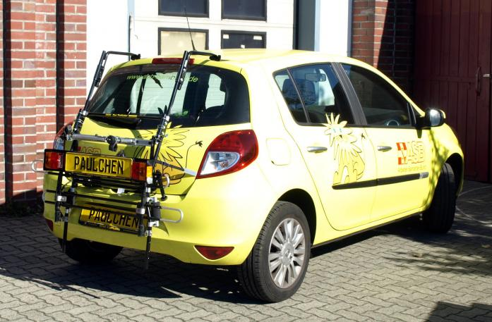 Renault Clio 3 (R) Bike carrier with comfort load extension in standby position. Without trailer hitch!