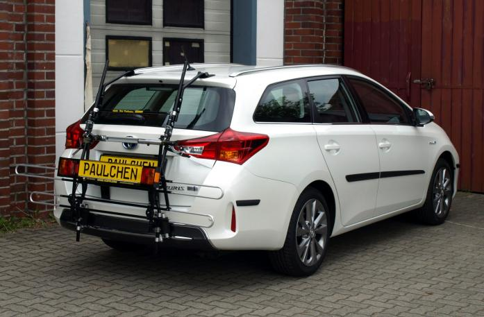 Toyota Auris Touring Sports Bike carrier with comfort load extension in standby position. Without trailer hitch!
