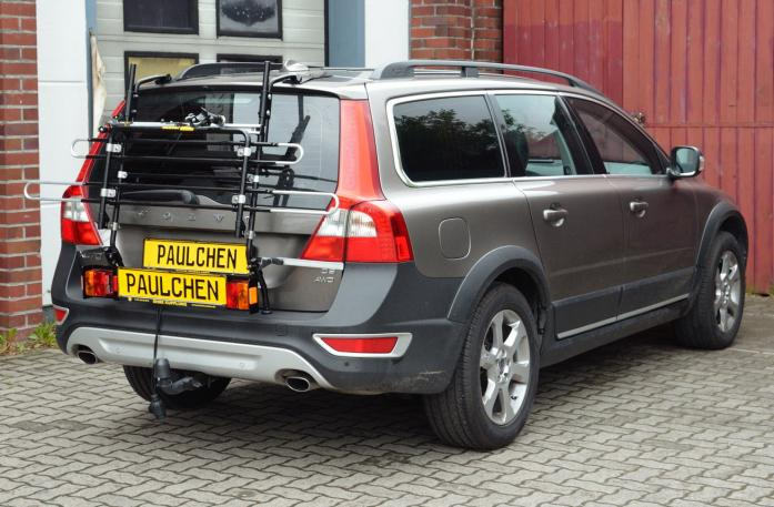 Volvo V70 III Combi / XC 70 Bike carrier with light bar in standby position