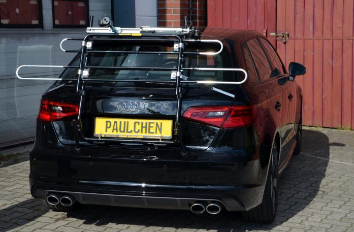 Audi S3 Sportback Bike carrier in standby position