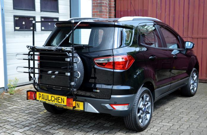 Ford Ecosport Bike carrier with comfort load extension in standby position. Without trailer hitch!