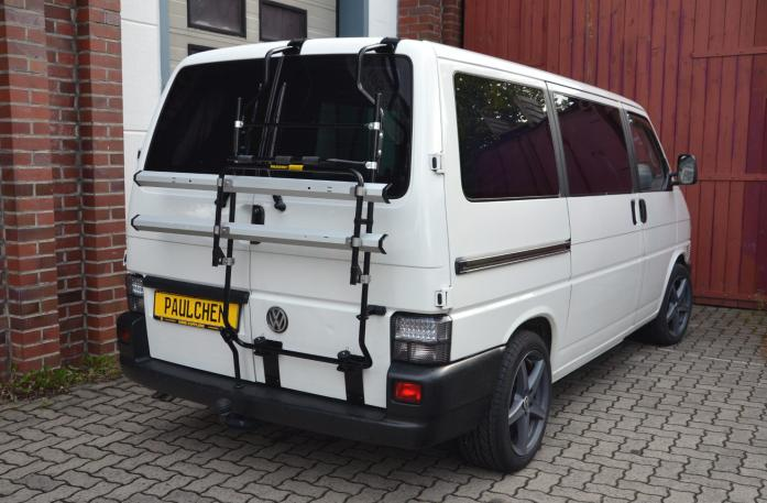Volkswagen Bus T4 Bike carrier in standby position