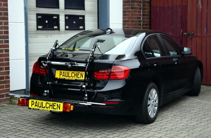 BMW 3er Stufenheck Bike carrier with comfort load extension in loading position. Without trailer hitch!
