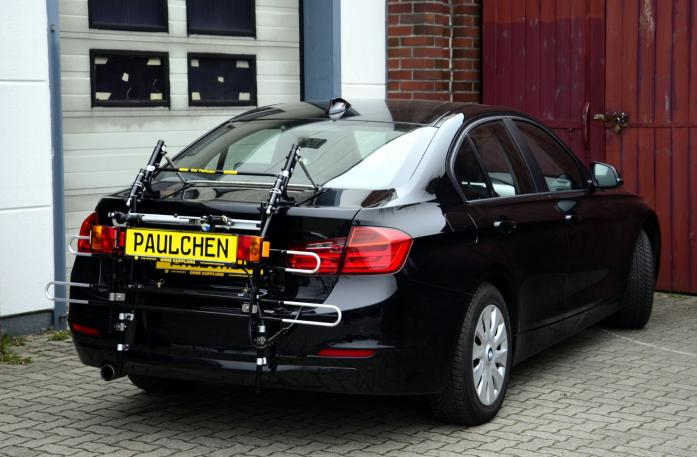 BMW 3er Stufenheck Bike carrier with comfort load extension in standby position. Without trailer hitch!