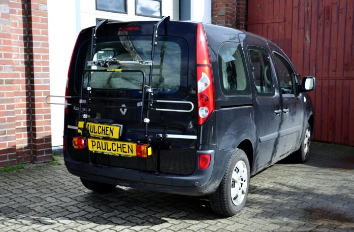 Renault Kangoo (KW) Bike carrier with light bar in standby position