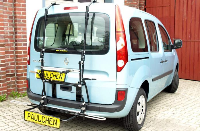 Renault Kangoo (KW) Bike carrier with comfort load extension in loading position. Without trailer hitch!