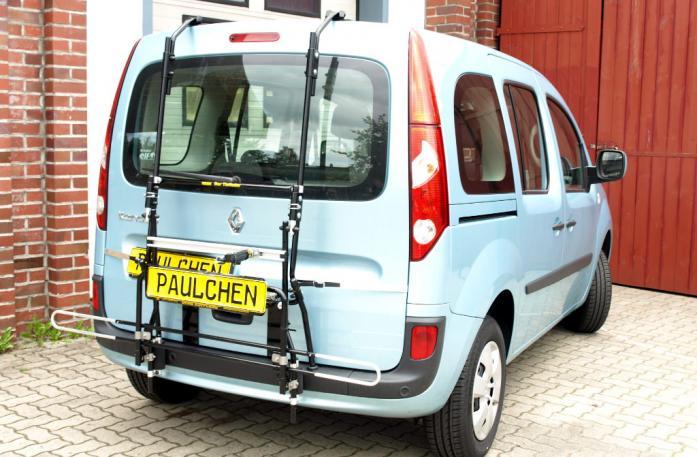 Renault Kangoo (KW) Bike carrier with comfort load extension in standby position. Without trailer hitch!