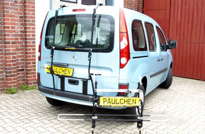 Renault Kangoo (KW) Bike carrier with separated comfort load extension.