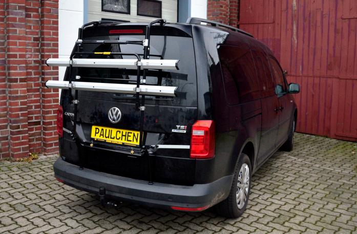 Volkswagen Caddy IV Bike carrier in standby position