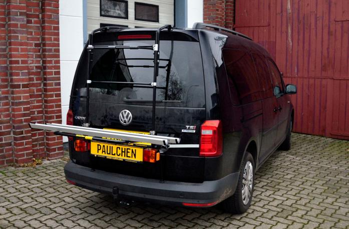Volkswagen Caddy IV Bike carrier with light bar in loading position