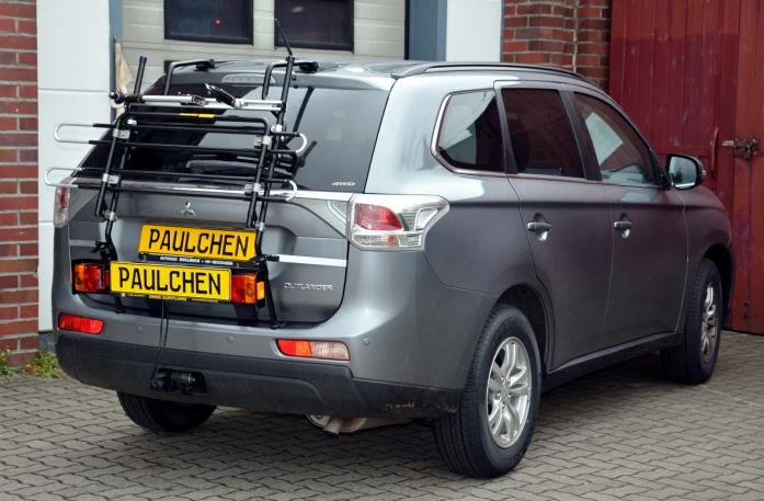 Mitsubishi Outlander III (CW0) Bike carrier with light bar in standby position
