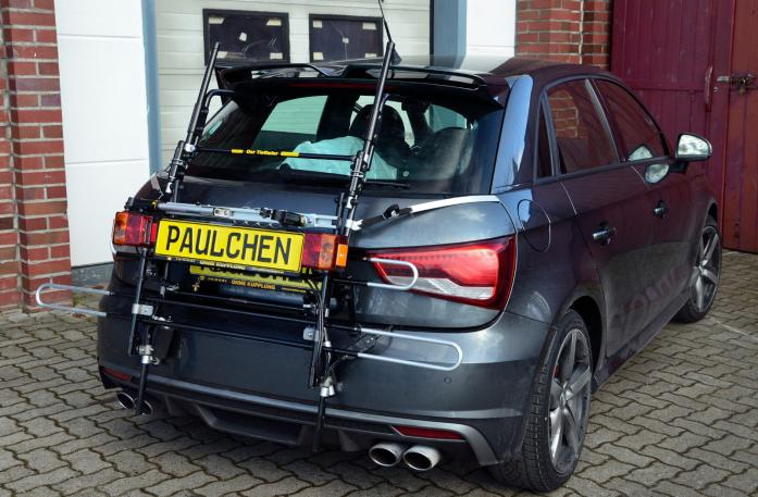 Audi S1 Bike carrier with comfort load extension in standby position. Without trailer hitch!