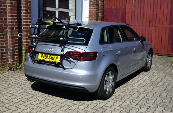 Audi A3 Sportback Bike carrier in standby position