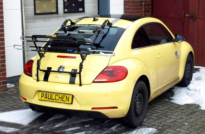 Volkswagen Beetle Bike carrier in loading position