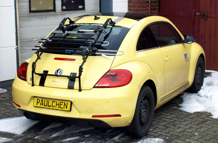 Volkswagen Beetle Bike carrier in standby position