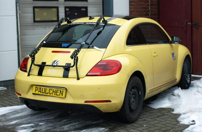 Volkswagen Beetle Bike carrier with separated comfort load extension.