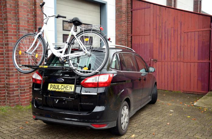 Ford Grand C-Max, Bike carrier loaded with bike
