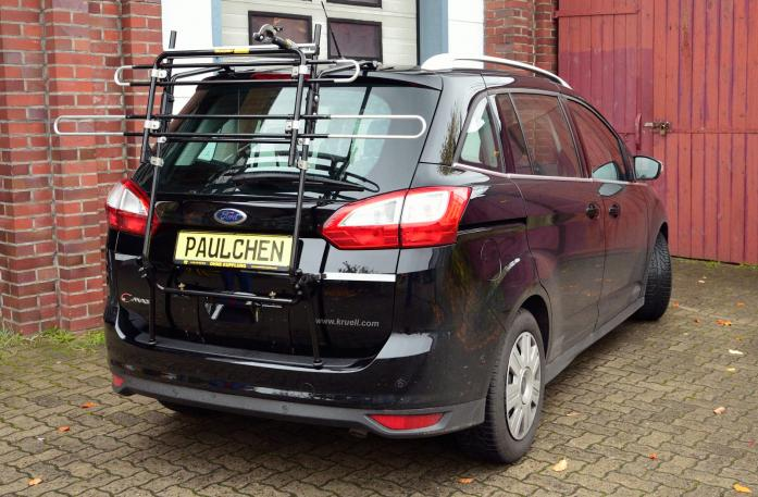 Ford Grand C-Max, Bike carrier in standby position