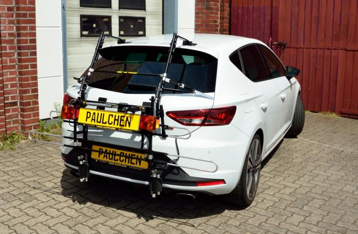 Seat Leon Cupra (5F) Bike carrier with comfort load extension in standby position. Without trailer hitch!