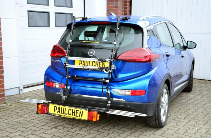 Opel Ampera E Bike carrier with comfort load extension in loading position. Without trailer hitch!