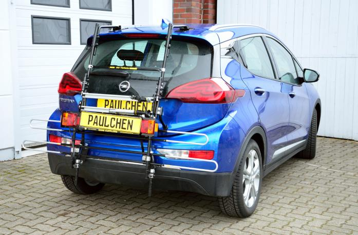 Opel Ampera E Bike carrier with comfort load extension in standby position. Without trailer hitch!