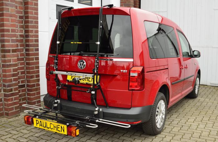 Volkswagen Caddy IV (SA) Bike carrier with comfort load expansion in loading position. Without trailer hitch!