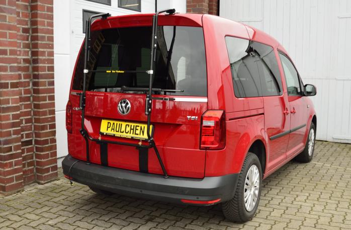 Volkswagen Caddy IV (SA) Bike carrier with separated comfort load expansion.