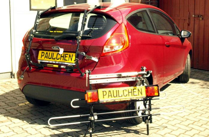 Ford Fiesta VI Bike carrier with separated comfort load extension.