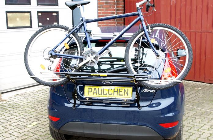 Ford Fiesta VI Bike carrier loaded with bike