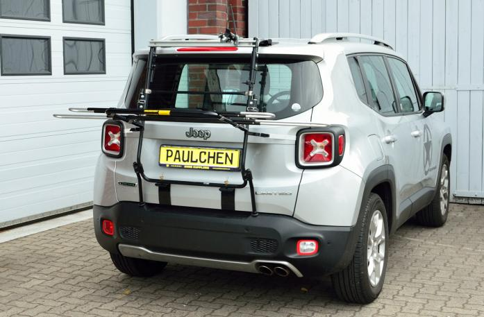 Chrysler Jeep Renegade (BU) Fahrradträger in Ladeposition
