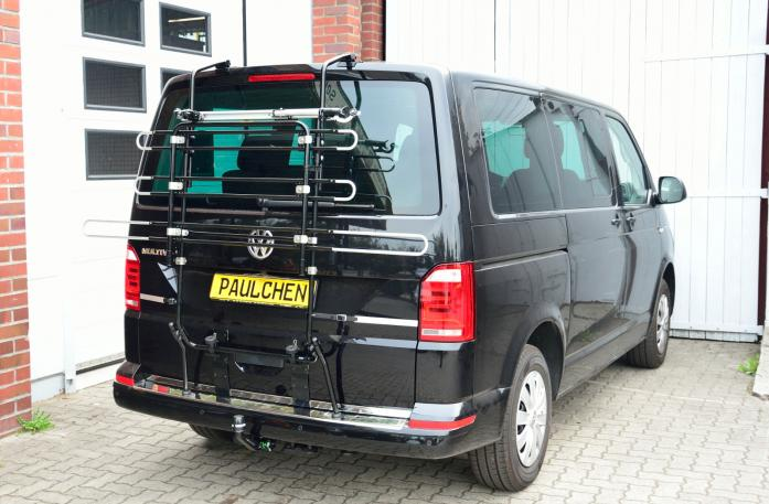 Volkswagen Bus T6 Bike carrier in standby position