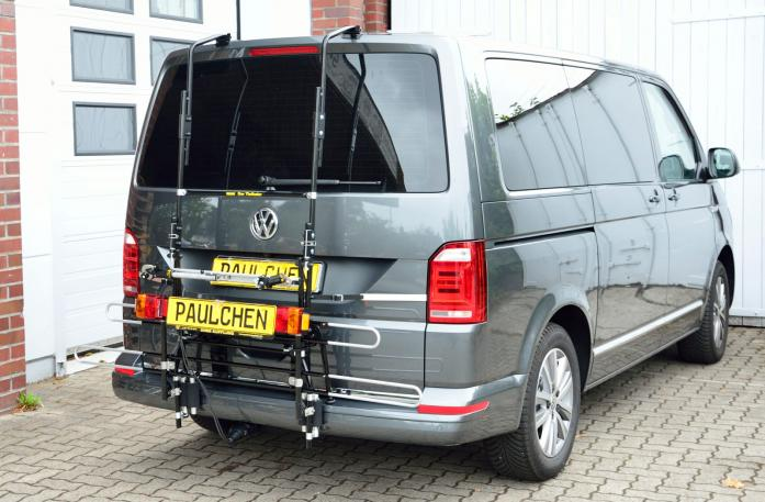 Volkswagen Bus T6 Bike carrier with comfort load expansion in standby position. Without trailer hitch!